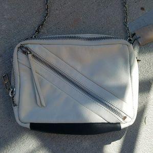 Kelsi Dagger Leather Cross Body Bag W Chain